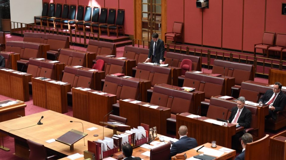 Farcical senate scenes expose further chaos for government for Farcical scenes