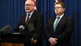 George Brandis made an impassioned plea to Bill Shorten not to play politics with the plebiscite.