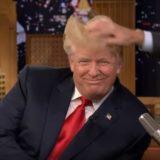 Donald Trump hair ruffled by Fallon