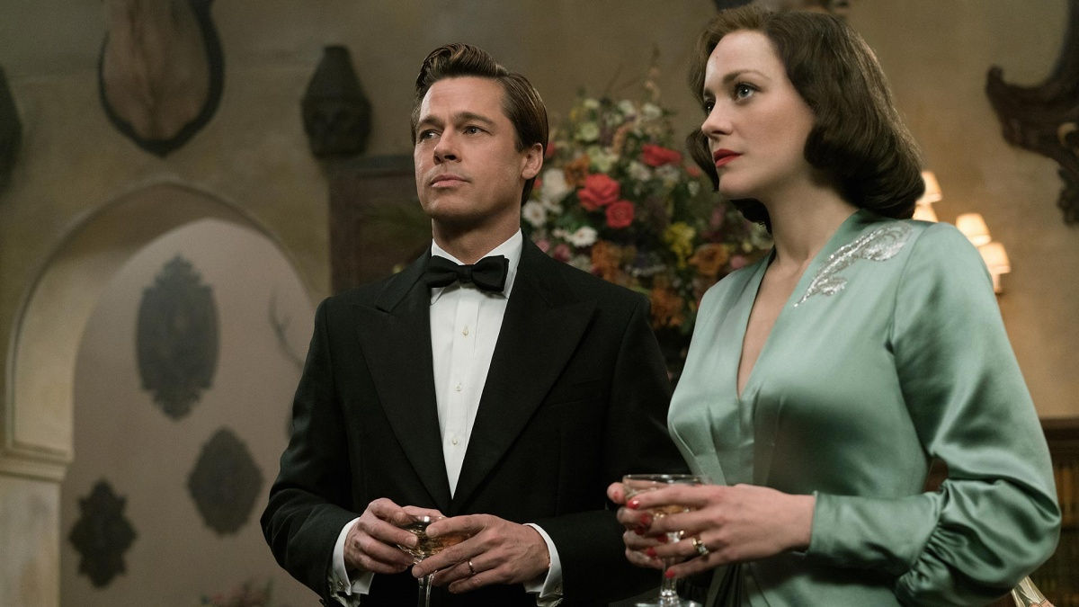 Pitt and Cotillard in Allied. Photo: Paramount Pictures