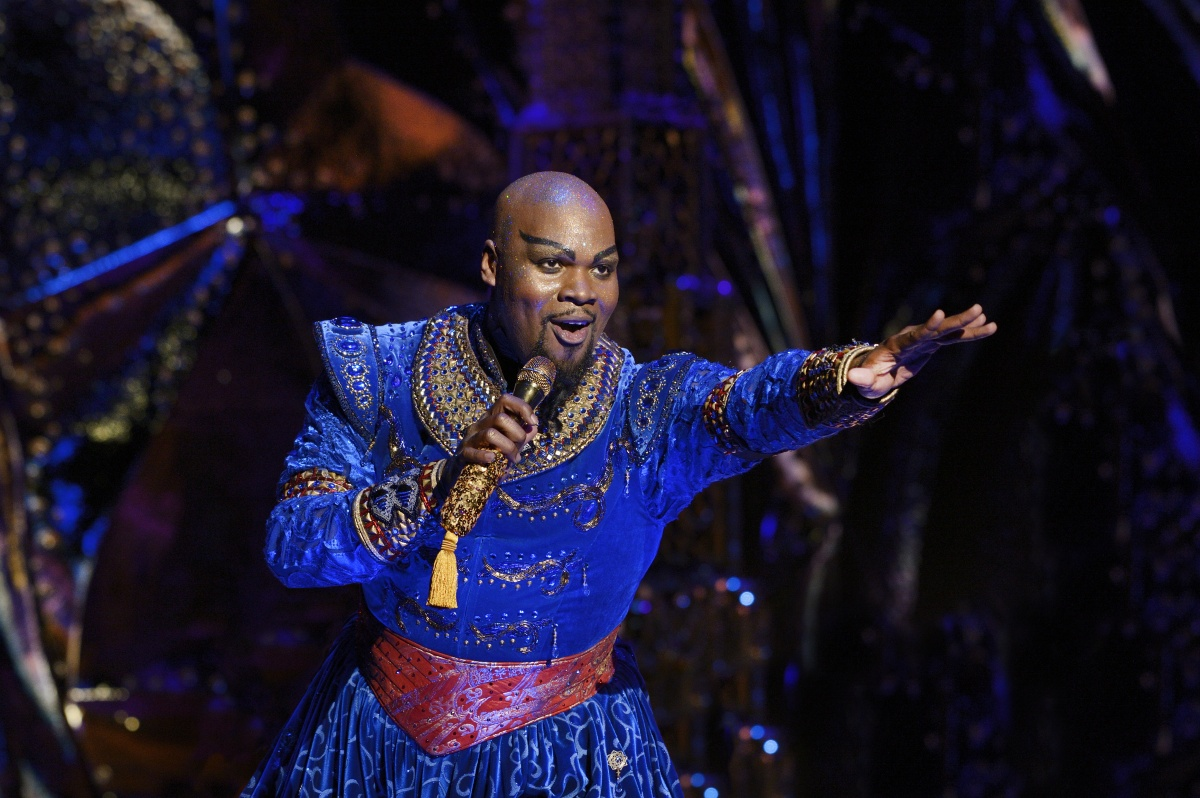 Michael James Scott is hilarious as Genie. Photo Deen van Meer