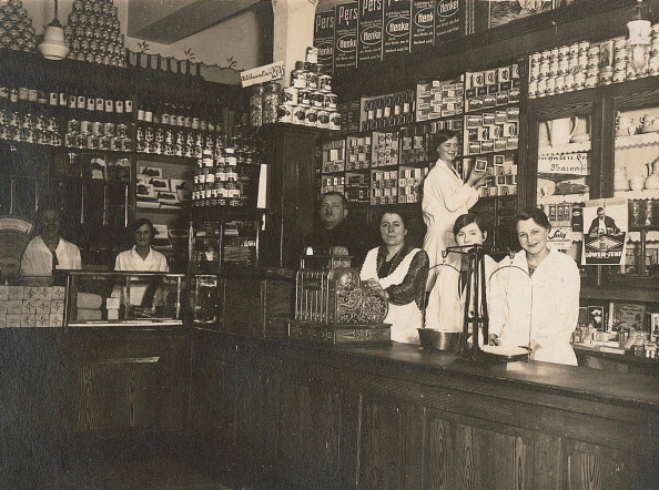 The original Aldi store in Essen, Germany, 1930. Photo: Getty