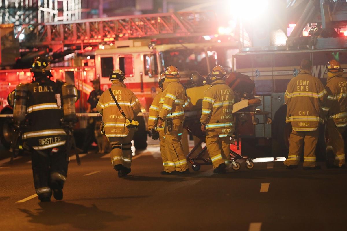 Investigators scour NY blast scene