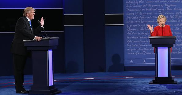 Mr Trump's body language and tone of voice was far more aggressive. Photo: Getty