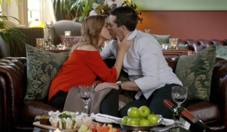 The season's first kiss went to Jake.