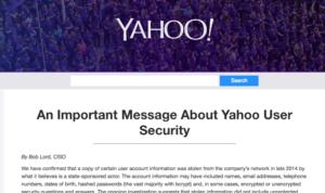 Yahoo data stolen