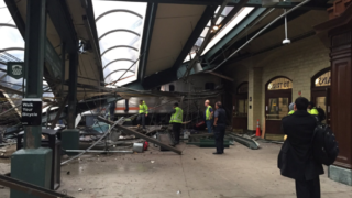 A Hoboken train crashes through New Jersey station.