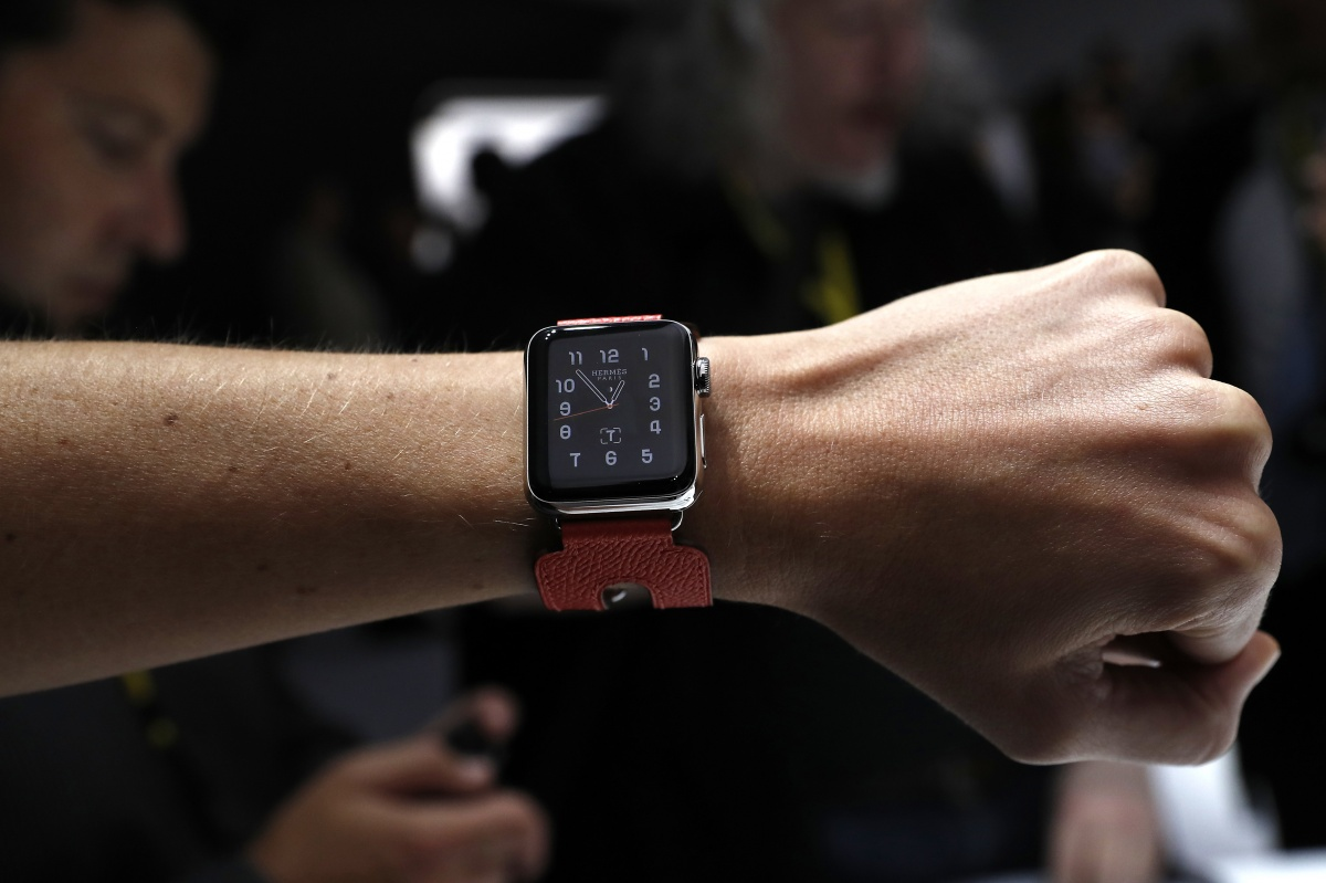 The Hermes Apple Watch is a pricier version for the fashion conscious. Photo: Getty