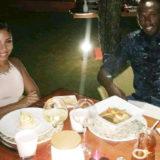 Usain Bolt in Bora Bora with his new fiancé Kasi Bennett.