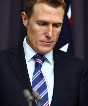 Social Services Minister Christian Porter is defending the savings measure. Photo: AAP