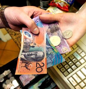 Money counter. Photo: Getty