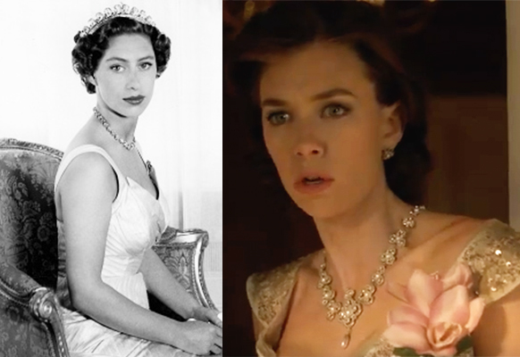 Vanessa Kirby (right) is a dead ringer for Princess Margaret (right). Photo: Netflix/Getty