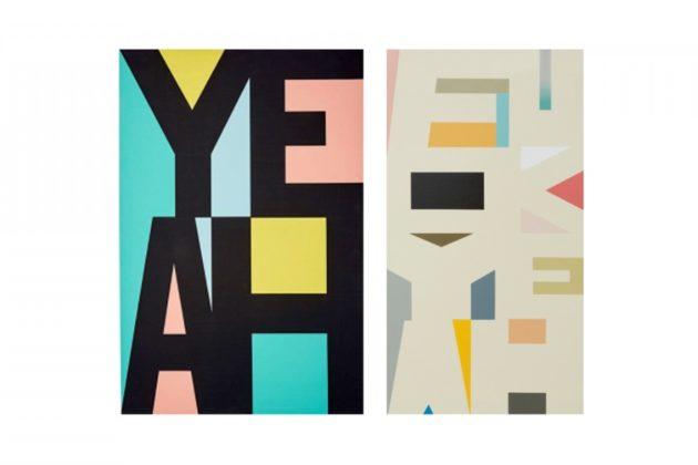A $14 Target canvas and Australian artist Jon Campbell's piece.