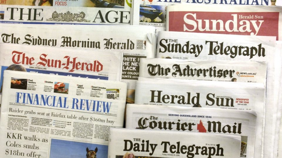 Fairfax News Corp newspapers