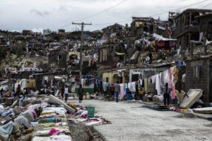 Jeremie in Haiti, was one of the cities that suffered the greatest destruction as a result of Hurricane Matthew.