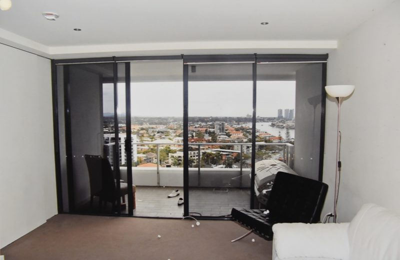 A police shot of Gable Tostee's Surfers Paradise apartment. Photo: AAP