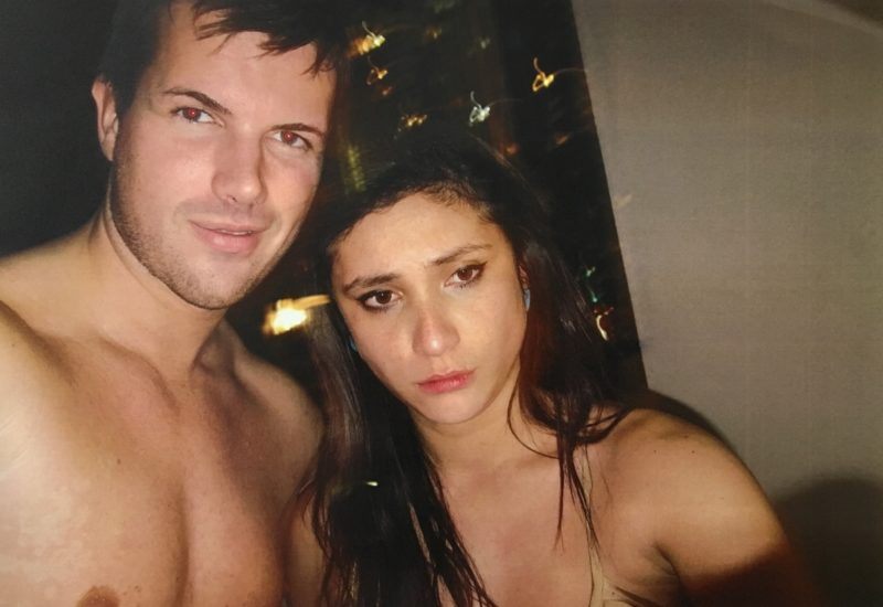 Gable Tostee and Warriena Wright just hours before the New Zealand tourist fell to her death. Photo: Queensland Police Service.