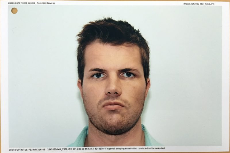 A police photograph of Gable Tostee taken after his arrest in 2014. Photo: AAP.