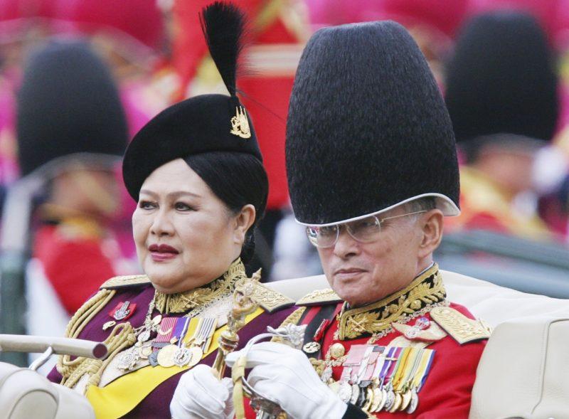 Thailand's King Bhumibol Adulyadej and Queen Sirikit in 2005.