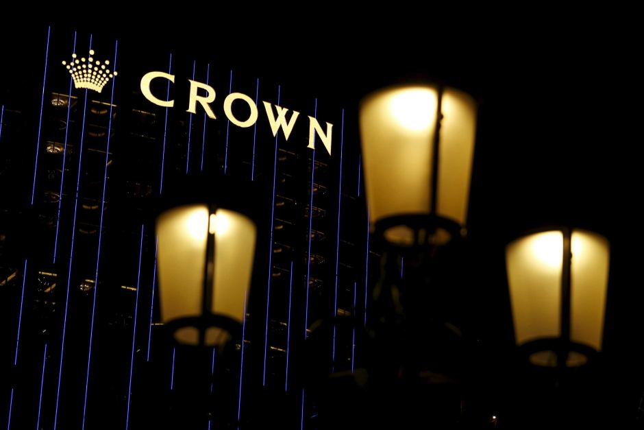 Crown shares fall after China detention