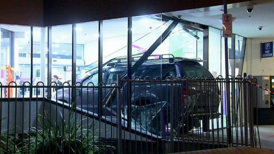 car rams hospital