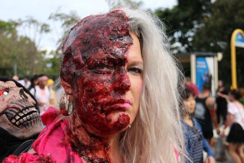 half-head zombie