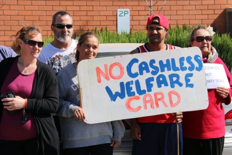 There has been considerable local opposition to the welfare card. Photo: ABC News.