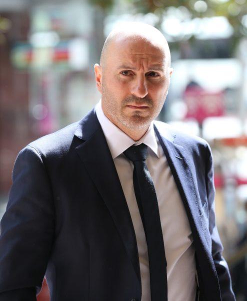 Cricket Australia sports science manager Alex Kountouris arrives at the inquiry.