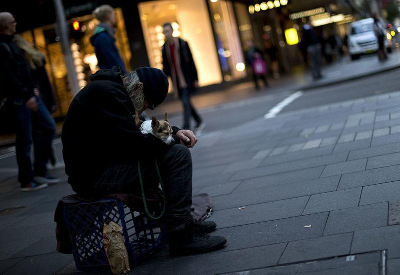 elderly homeless man in sydney