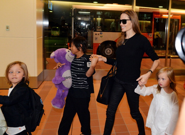 Billingham implied Jolie was more hands on with the kids. Photo: Getty