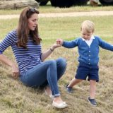 Prince George is 100 per cent dressed by his mother.