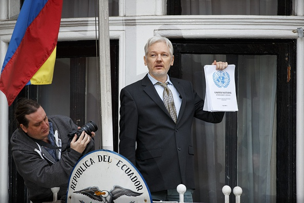 "The United Nations ruled Assange has been ""arbitrarily detained"" in the embassy. Photo: Getty"