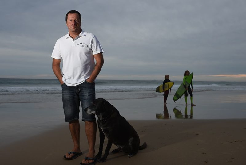 Dave Pearson was attacked by a bull shark at Crowdy Head beach south of Ballina in 2011. Photo: Getty.