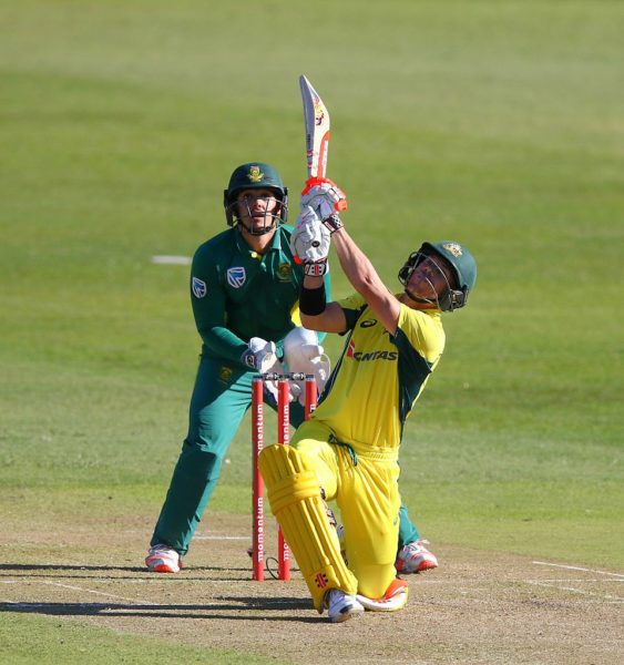 David Warner's ton wasn't enough to save the Aussies. Photo: Getty.