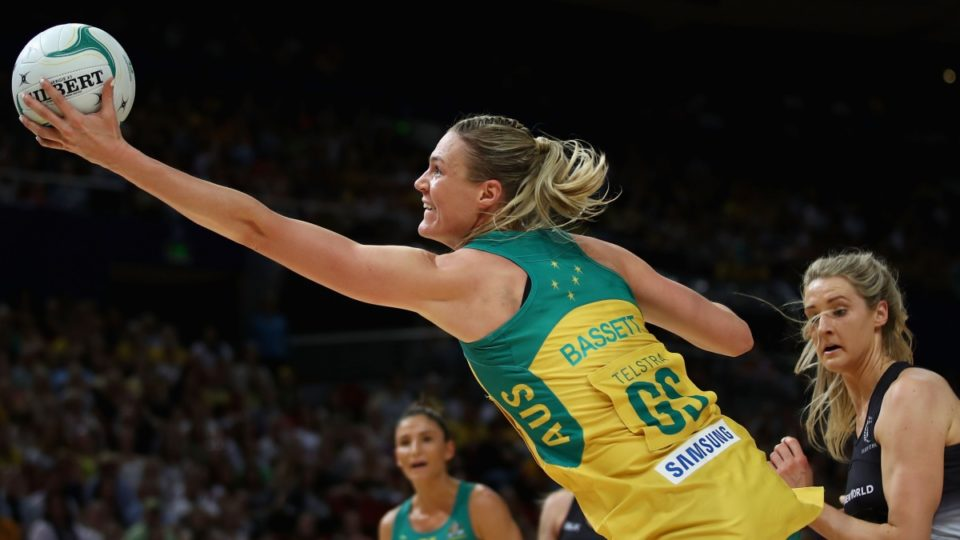 Australian goal shooter Caitlin Bassett was near unplayable.