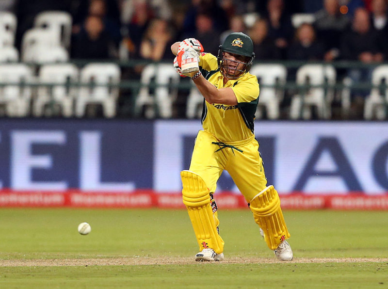 David Warner's knock It was the highest by an Australian in an ODI against South Africa. Photo: Getty.