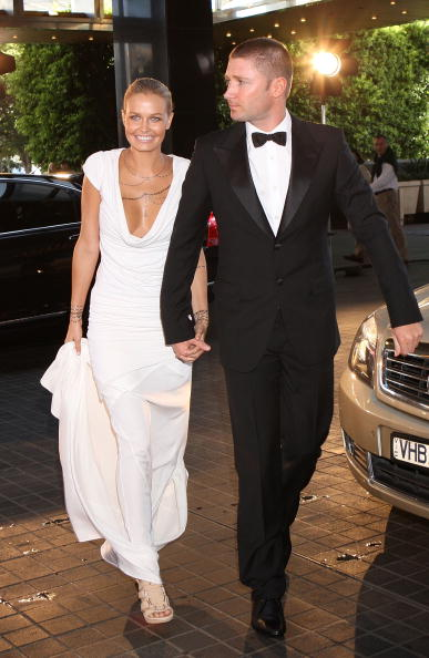Bingle and Clarke at the Alan Border Medal in 2010. Photo: Getty