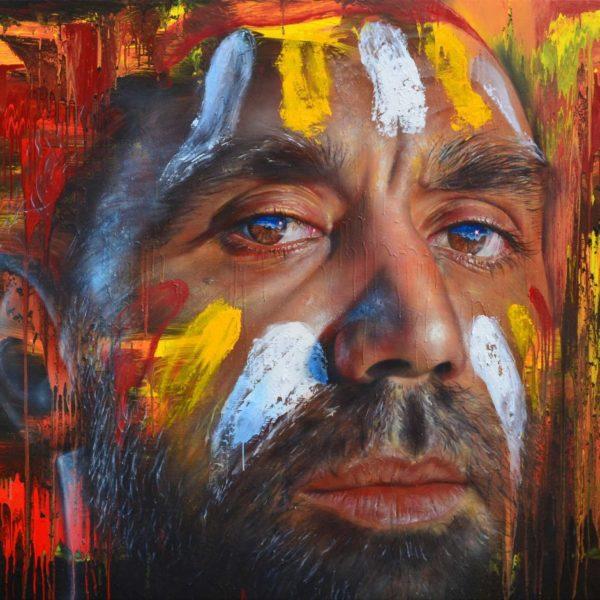 Moran portrait prize finalist 'Be Brave' by Matt Adnate.