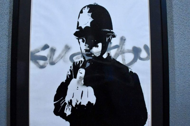 Banksy's Rude Policeman is considered one of his most forceful works.