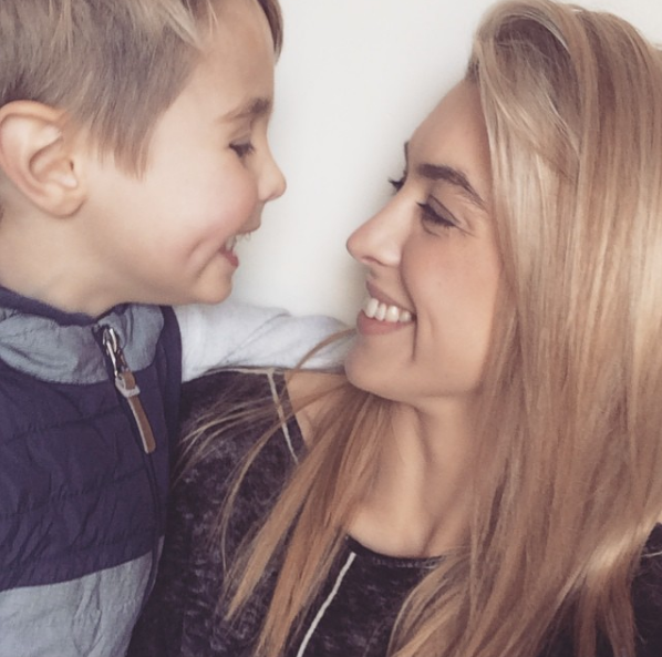 Nation with Elijah, who is yet to meet her new boyfriend. Photo: Instagram