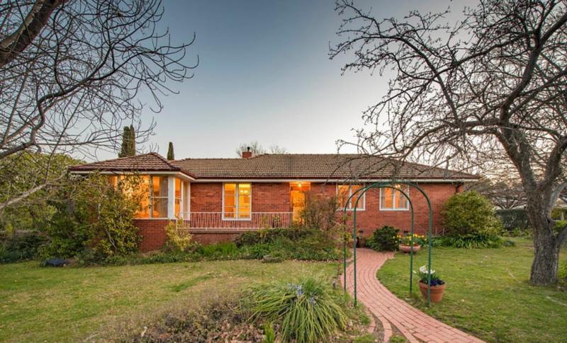 Original red double brick home in Yarralumla.