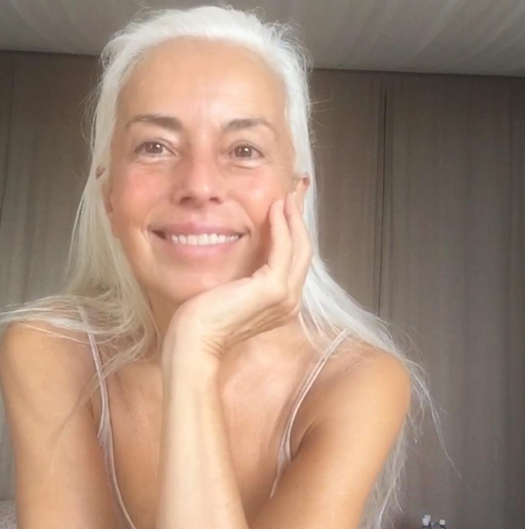 Even without makeup, Yazemeenah Rossi looks half her age. Photo: Instagram