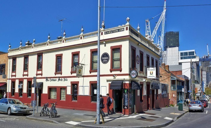 The pub in its former glory opposite the university's law building. Photo: Property Observer