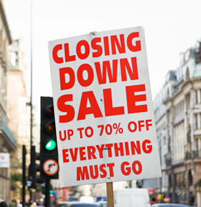 The perpetual 'closing down sale' is a classic example of scarcity in action. Photo: Getty