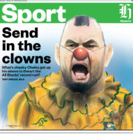The NZ Herald sports page that so offended Cheika.