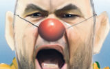 Wallabies coach Michael Cheika couldn't see the funny side of being portrayed as a clown.