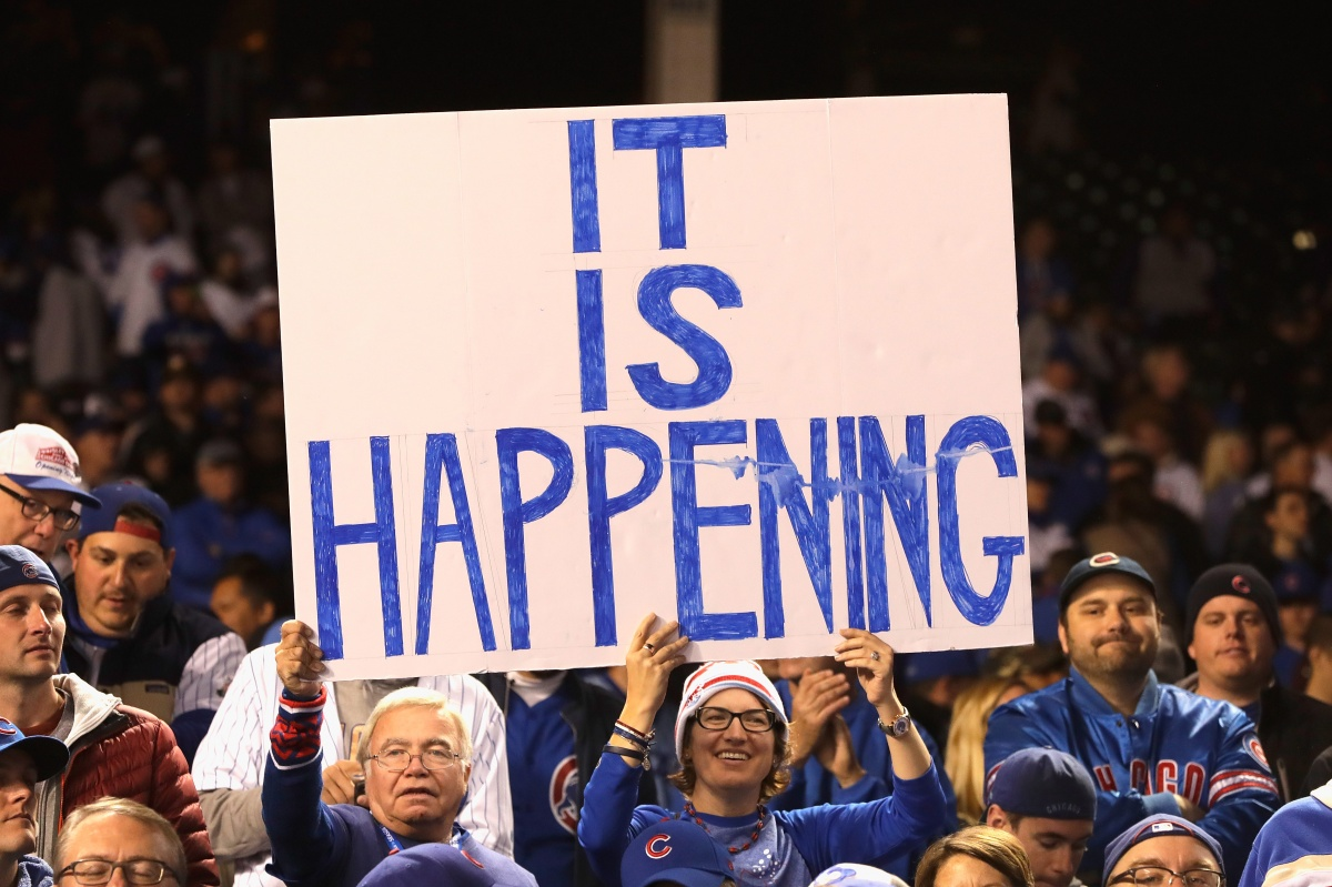 Some Cubs' fans evidently needed things written out plainly to believe they were happening