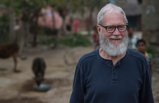David Letterman is sporting a new look and a new outlook on life. Photo: National Geographic