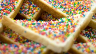 Fairy bread as it should be (minus the crusts).