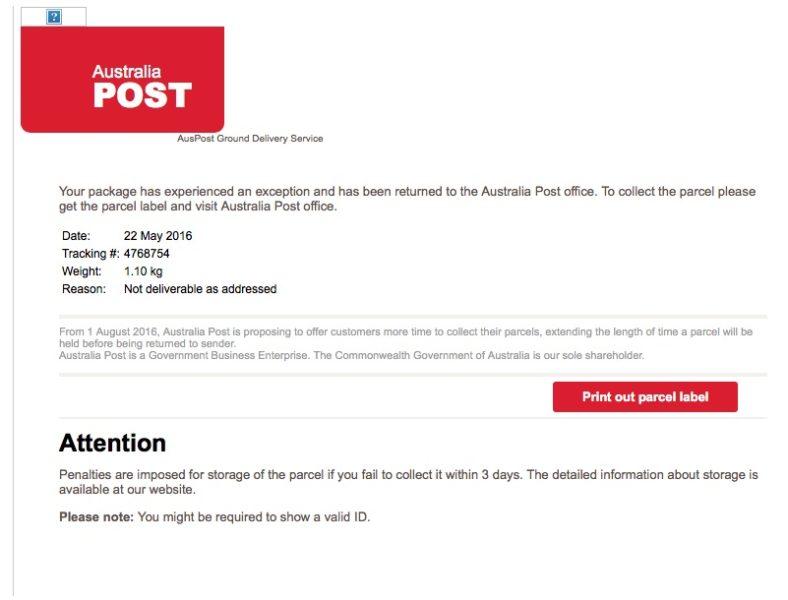 fake aus post